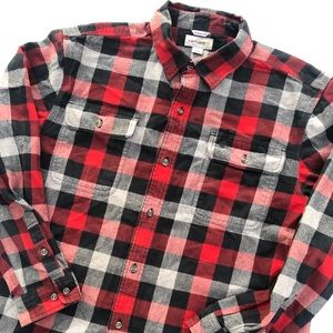 Carhartt Flannel Red Plaid Fit is XL